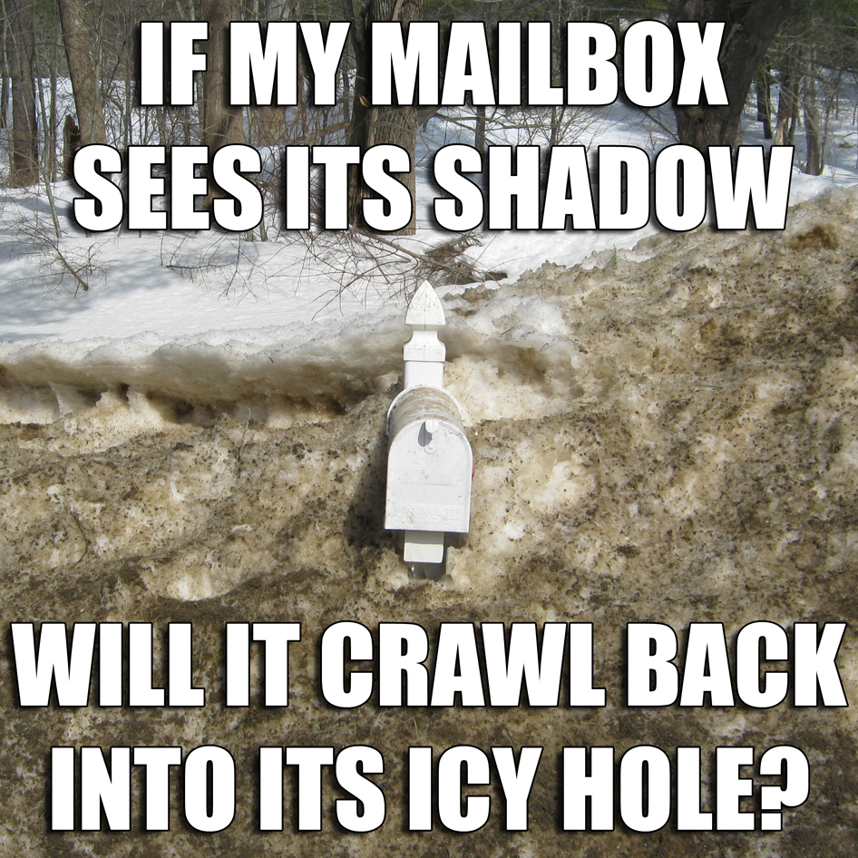 My mailbox is back.