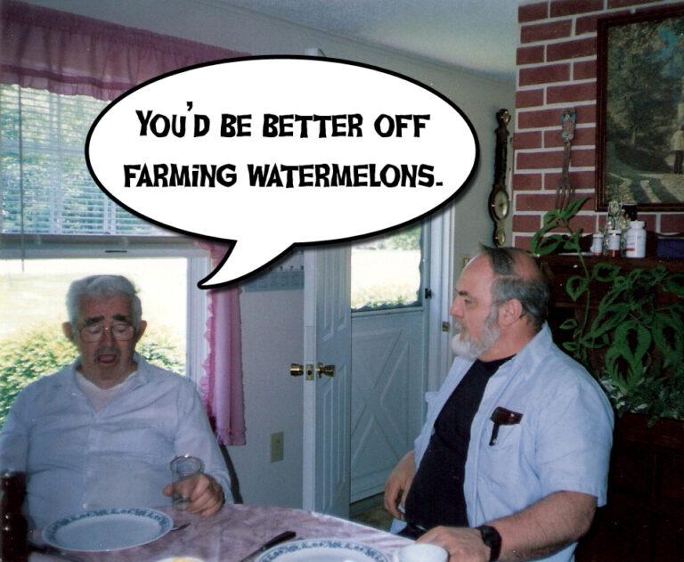 Watermelon farmer