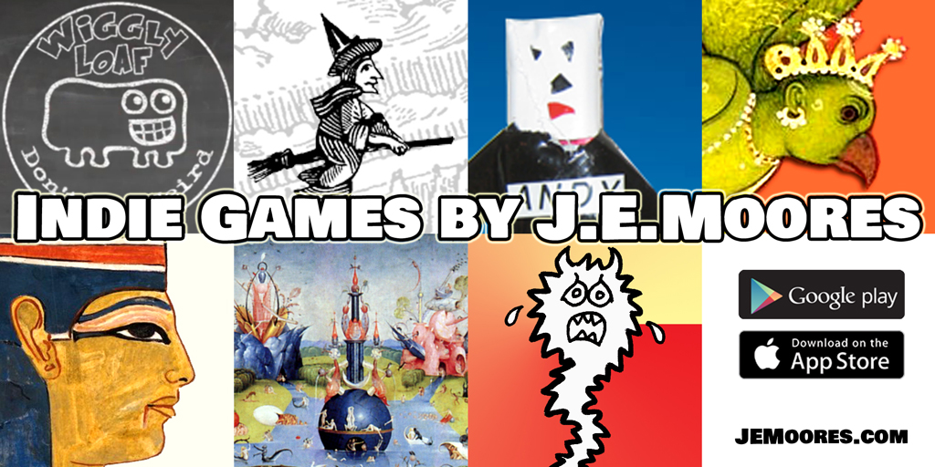 Indie Games by J.E.Moores for iOS and Android Phones