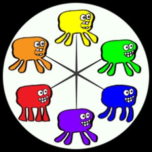 Wiggly Loaf Color Wheel