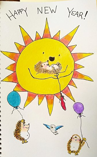 Hedgehog Balloon Race by Nicola Isgro and J.E.Moores